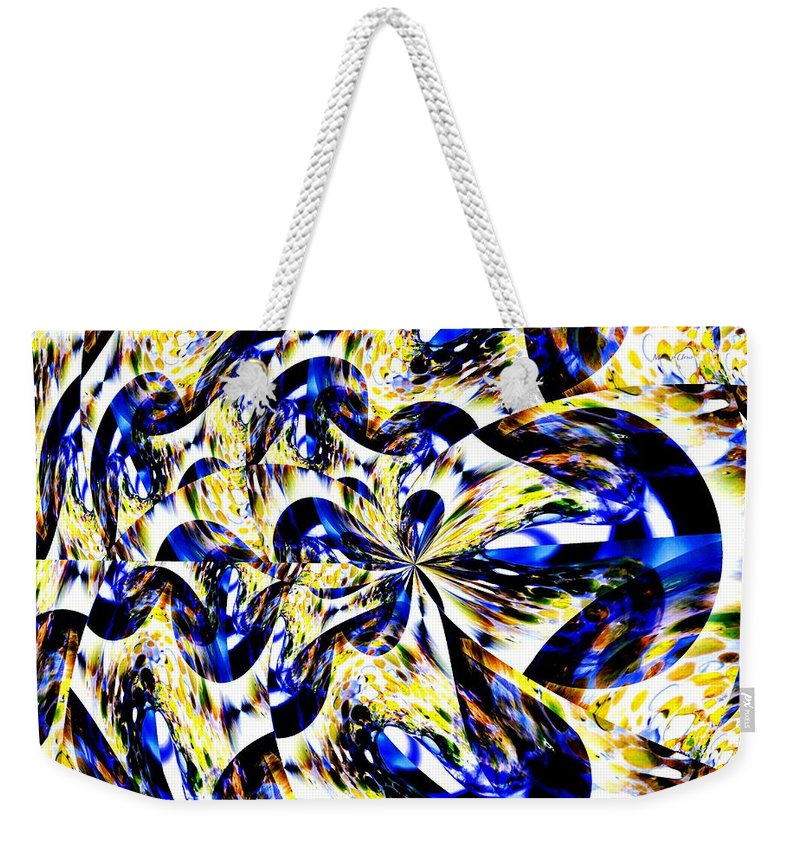 Party Weekender Tote Bag featuring the digital art Party Time Abstract by Maria Urso