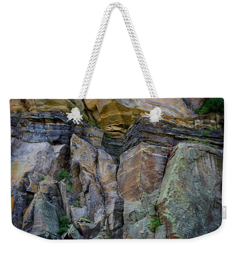 Wall Weekender Tote Bag featuring the photograph Passage Of Time by Vicki Pelham