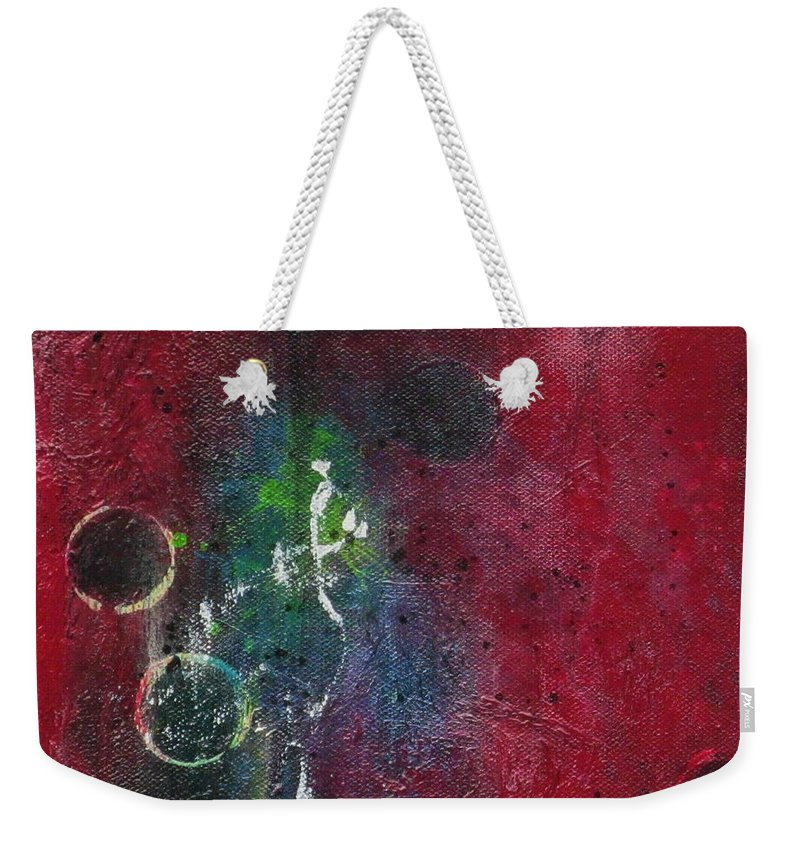 Abstract Painting Weekender Tote Bag featuring the painting Passion 3 by Nicole Nadeau