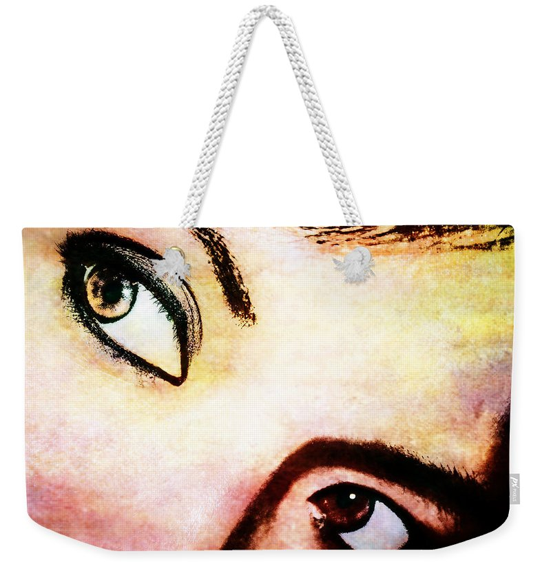Eyes Weekender Tote Bag featuring the photograph Passionate Eyes by Ester Rogers