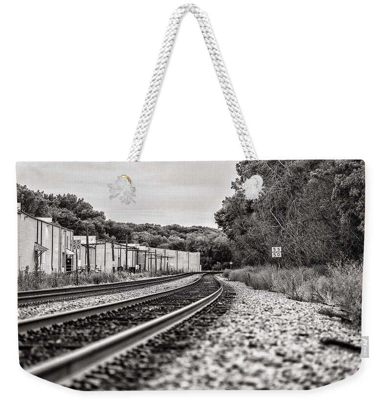 Cj Schmit Weekender Tote Bag featuring the photograph Path Of Indifference by CJ Schmit