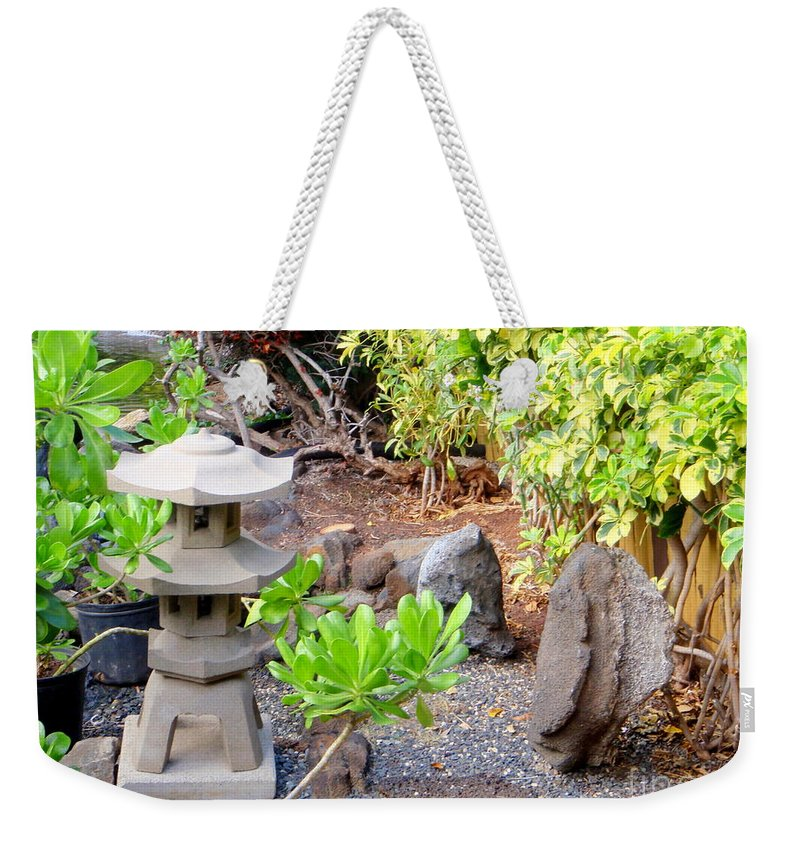 Garden Weekender Tote Bag featuring the photograph Path To The Waterfall by Mary Deal
