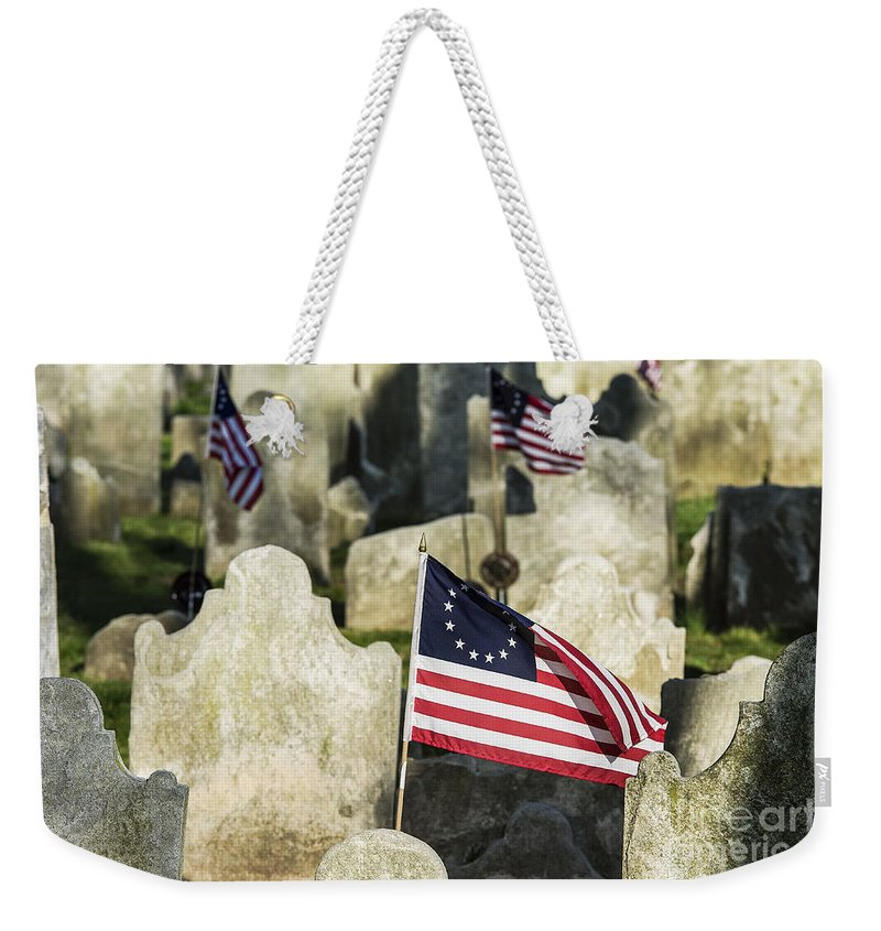 Americana Weekender Tote Bag featuring the photograph Patriot Cemetery by John Greim