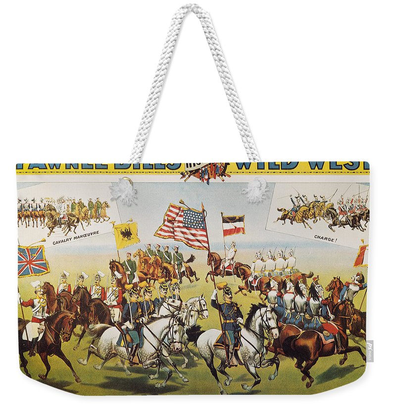 1895 Weekender Tote Bag featuring the photograph Pawnee Bill Poster, 1895 by Granger