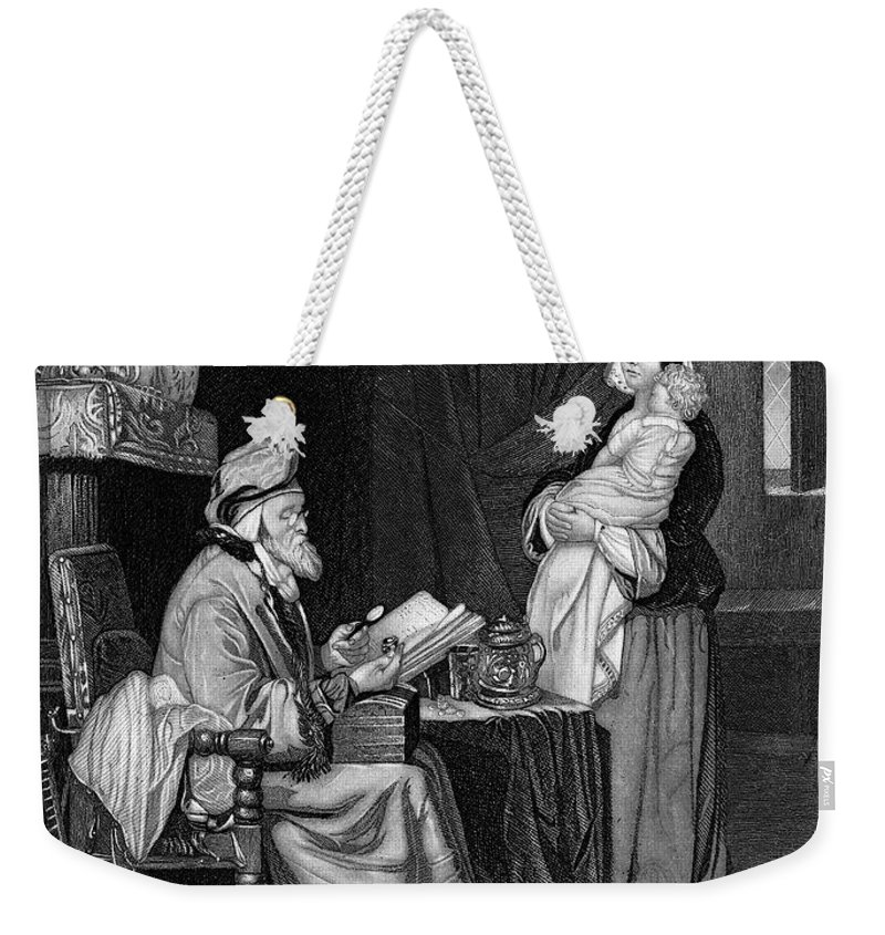 19th Century Weekender Tote Bag featuring the photograph Pawning, 19th Century by Granger
