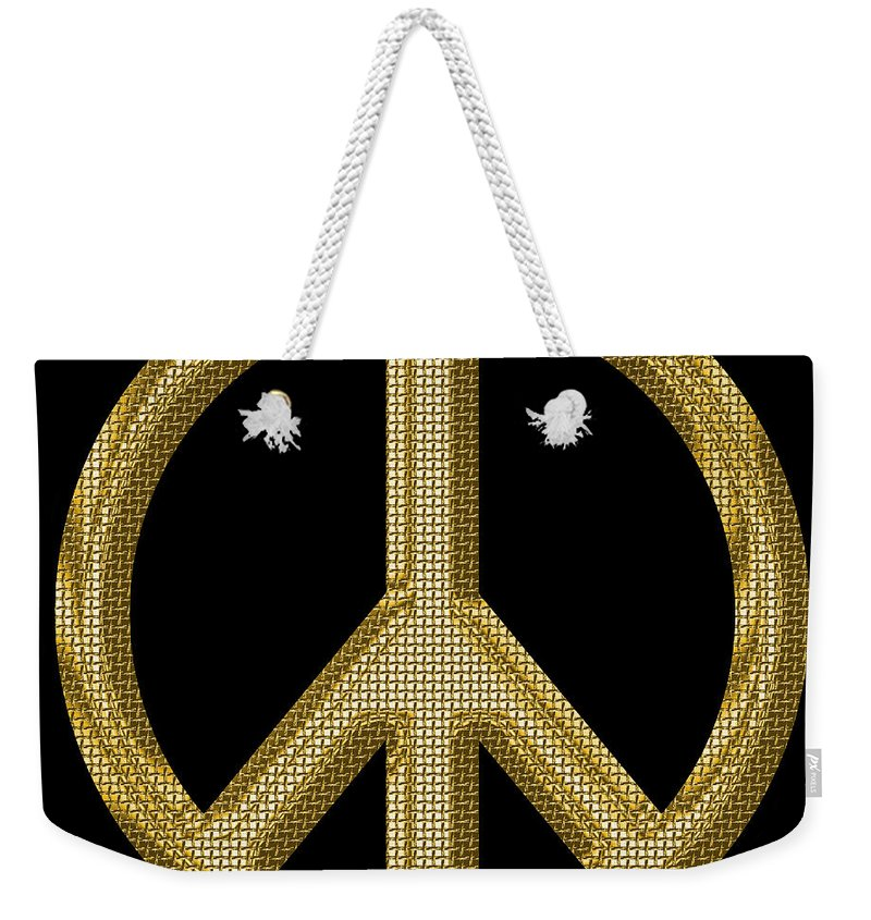Peace Weekender Tote Bag featuring the photograph Peace Sign 1 by Andrew Fare