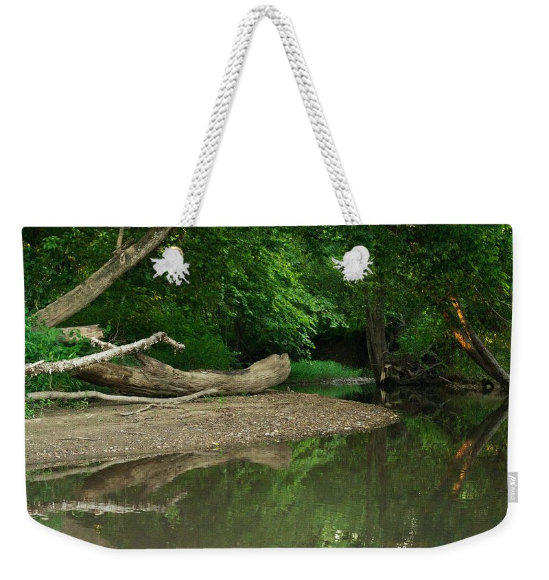 Peaceful Weekender Tote Bag featuring the photograph Peaceful Stream by Douglas Barnett