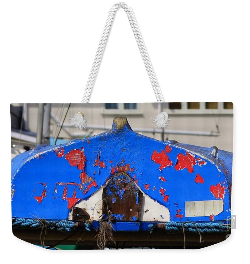 Boats Weekender Tote Bag featuring the photograph Peeling Blue by Rene Triay Photography