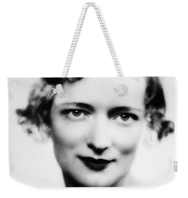 1930s Weekender Tote Bag featuring the photograph Peggy Wood (1892-1978) by Granger