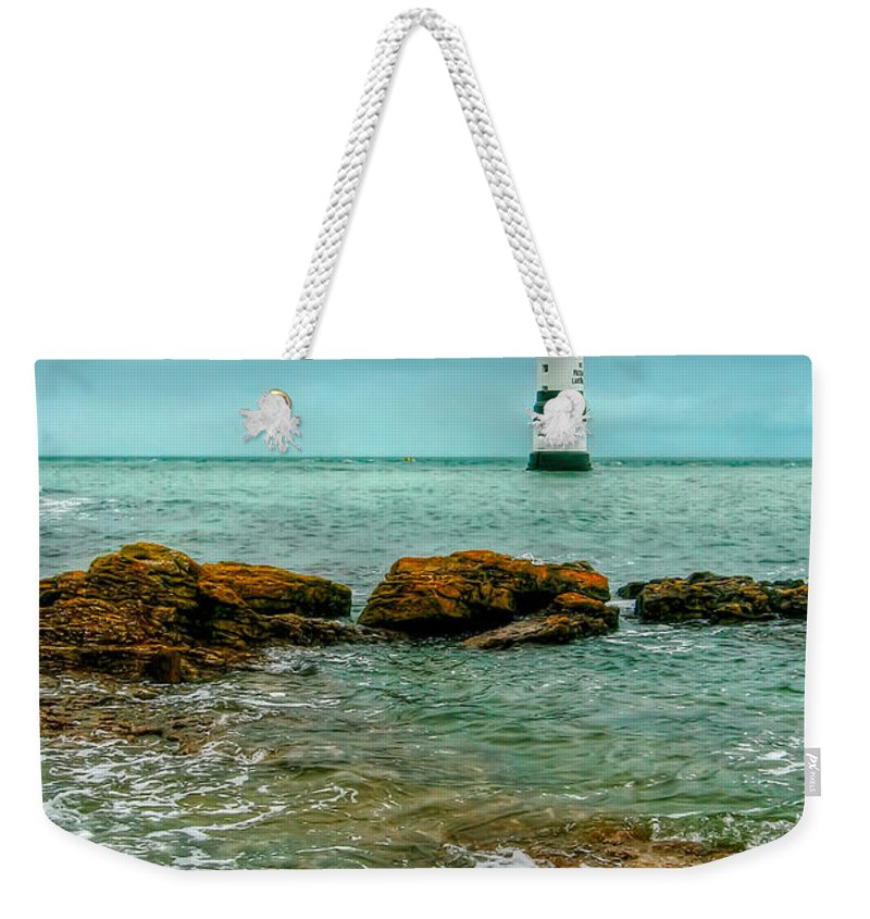 1838 Weekender Tote Bag featuring the photograph Penmon Point by Adrian Evans