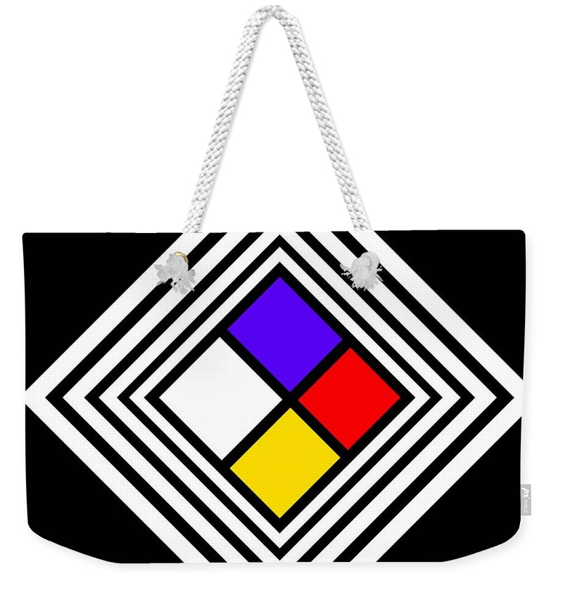 Flag Weekender Tote Bag featuring the painting Pennant by Charles Stuart