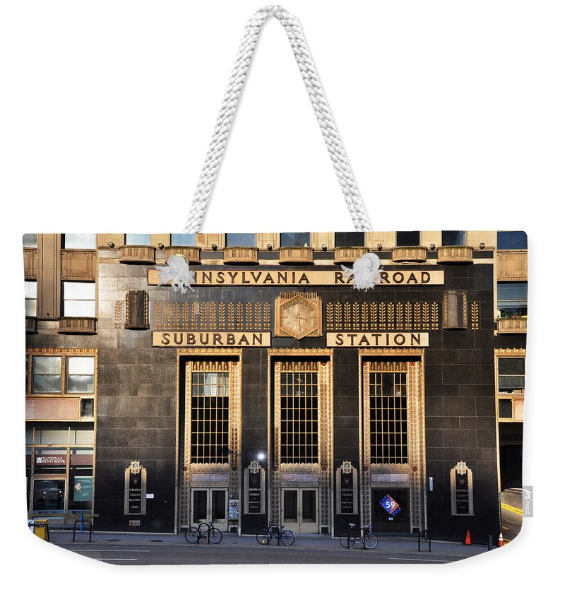 Pennsylvania Railroad Suburban Station Weekender Tote Bag featuring the photograph Pennsylvania Railroad Suburban Station by Bill Cannon