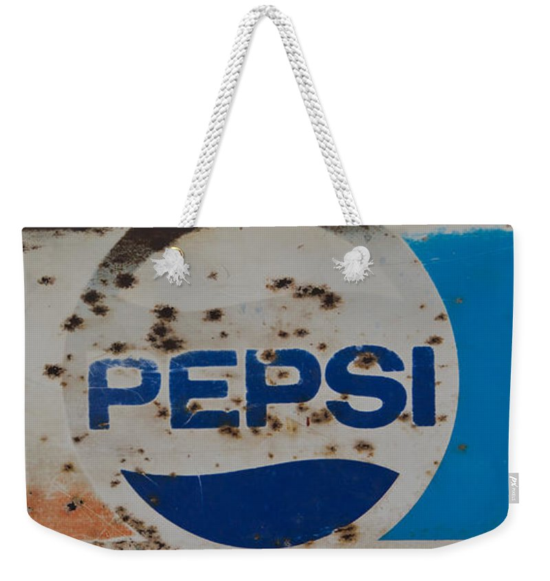 Pepsi Weekender Tote Bag featuring the photograph Pepsi Old Style by Heidi Smith