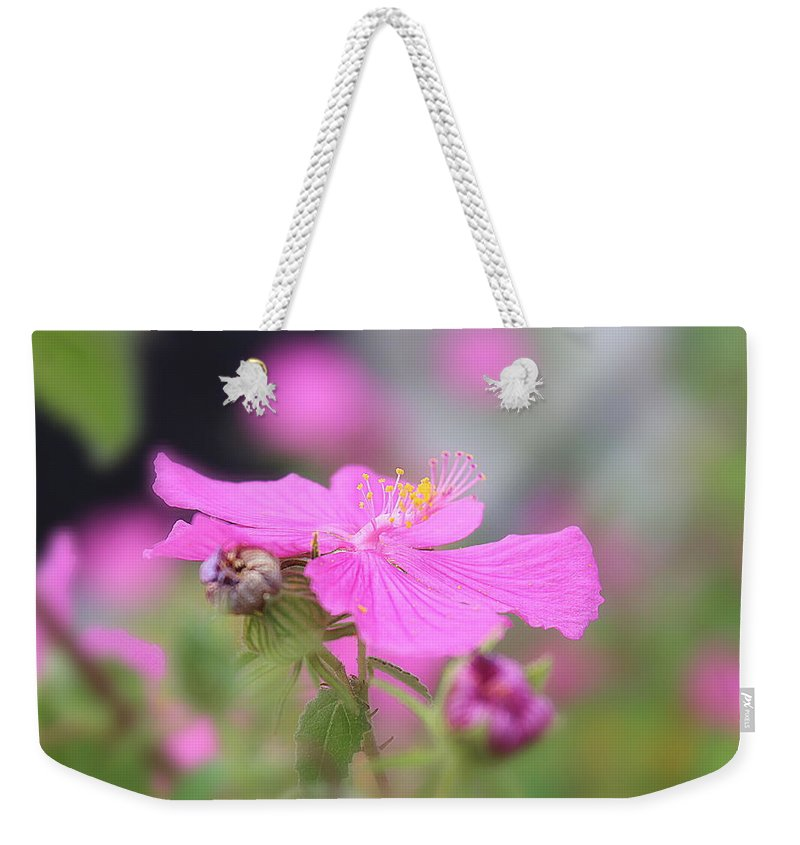 Pink Weekender Tote Bag featuring the photograph Perfect Pink by Kume Bryant