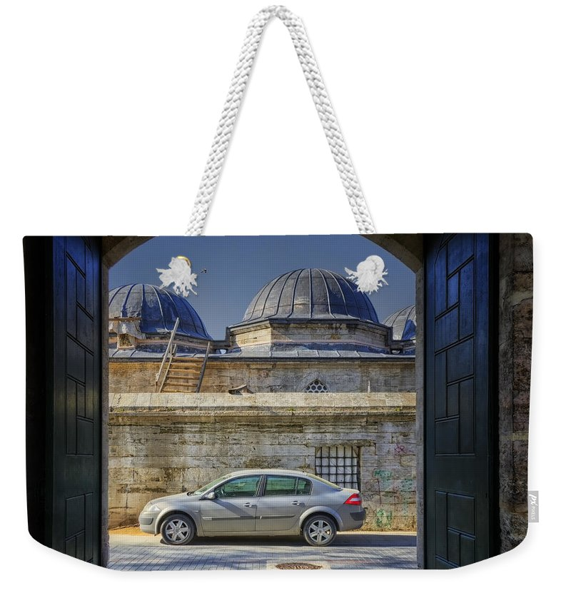 Detail Weekender Tote Bag featuring the photograph Perfect Placement by Joan Carroll
