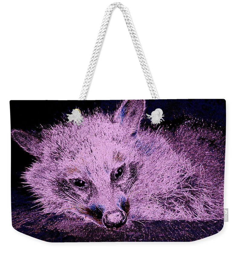 Animal Weekender Tote Bag featuring the photograph Periwinkle Love by Art Dingo