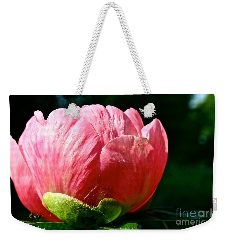 Plant Weekender Tote Bag featuring the photograph Petals Up by Susan Herber