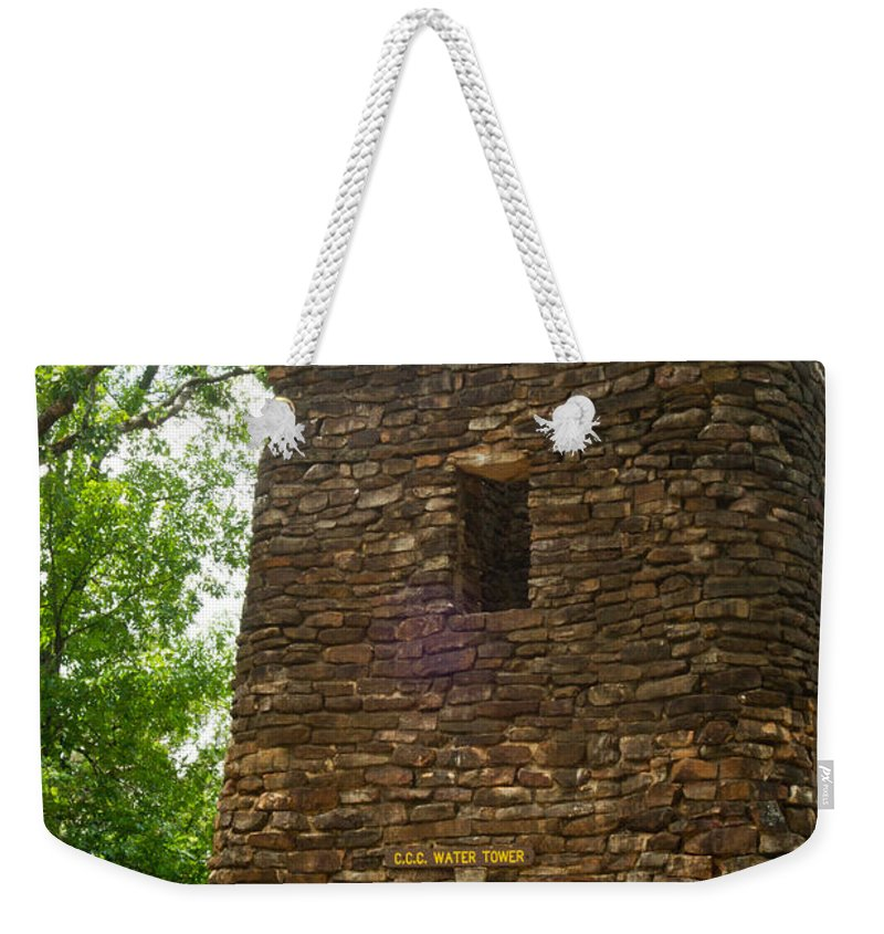 Petit Weekender Tote Bag featuring the photograph Petit Jean Water Tower 2 by Douglas Barnett