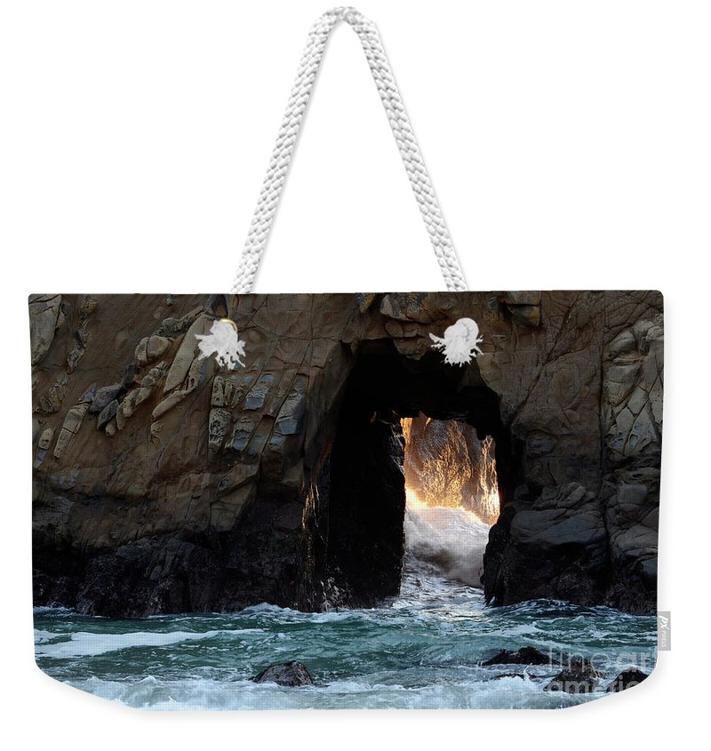 Pfeiffer Rock Weekender Tote Bag featuring the photograph Pfeiffer Rock Big Sur by Bob Christopher