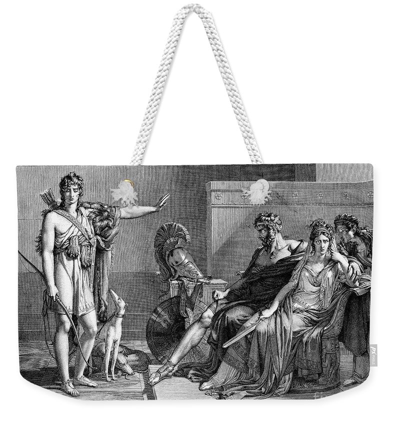 Ancient Weekender Tote Bag featuring the photograph Phaedra And Hippolytus by Granger
