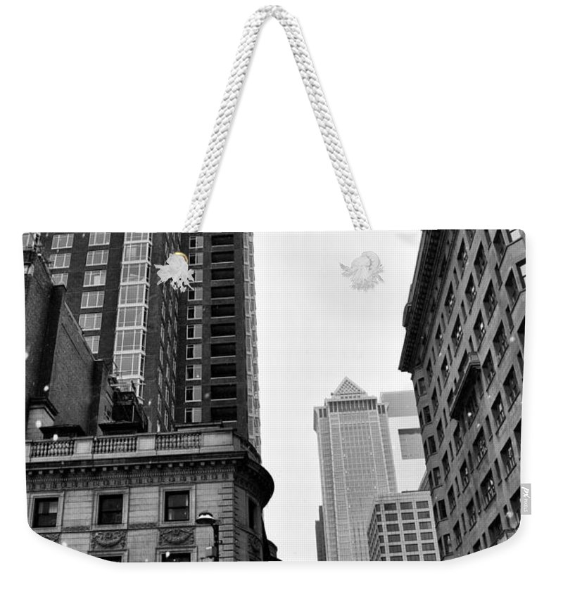 Philadelphia 18th And Walnut Street. Weekender Tote Bag featuring the photograph Philadelphia 18th And Walnut Street. by Bill Cannon