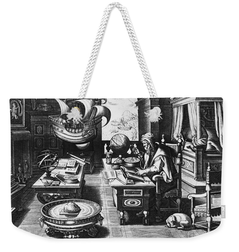 1580 Weekender Tote Bag featuring the photograph Philosopher, C1580 by Granger