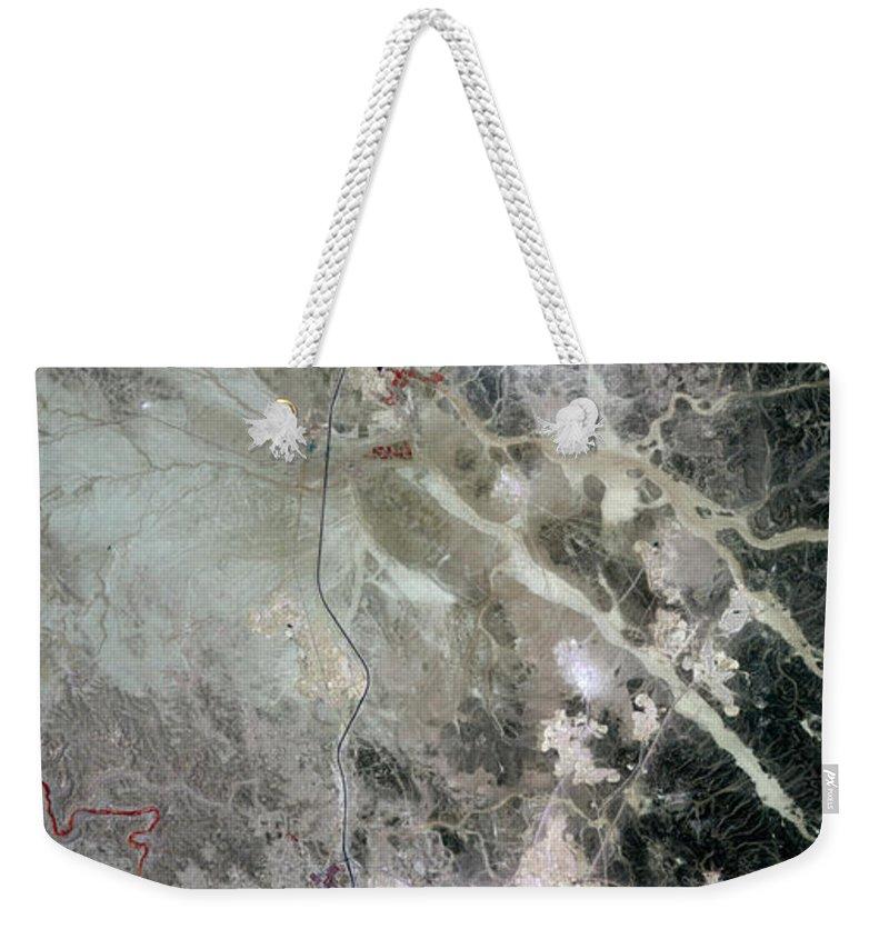 Phosphorus Weekender Tote Bag featuring the photograph Phosphate Mines, Jordan by Nasa