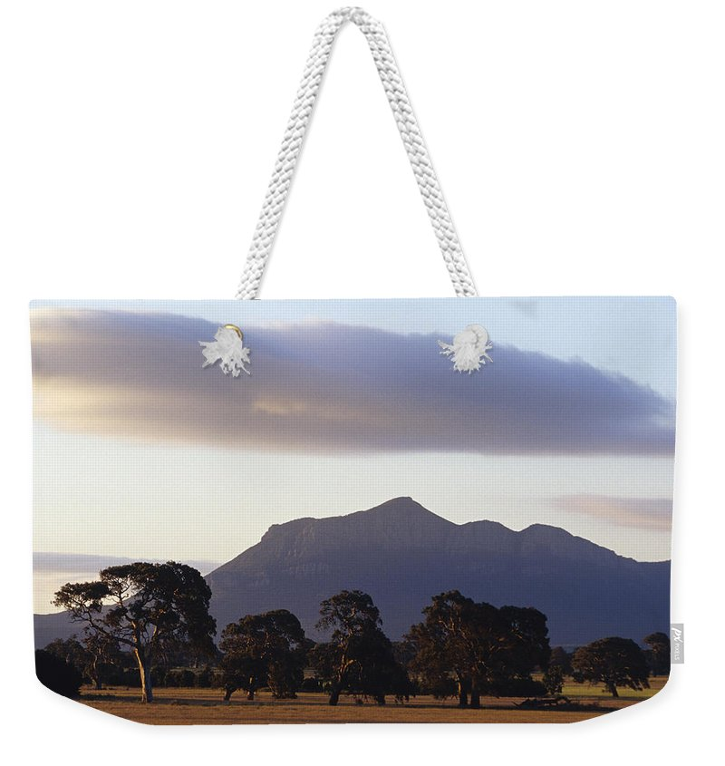 Grampians National Park Weekender Tote Bag featuring the photograph Picturesque Mountain Ranges Loom by Jason Edwards