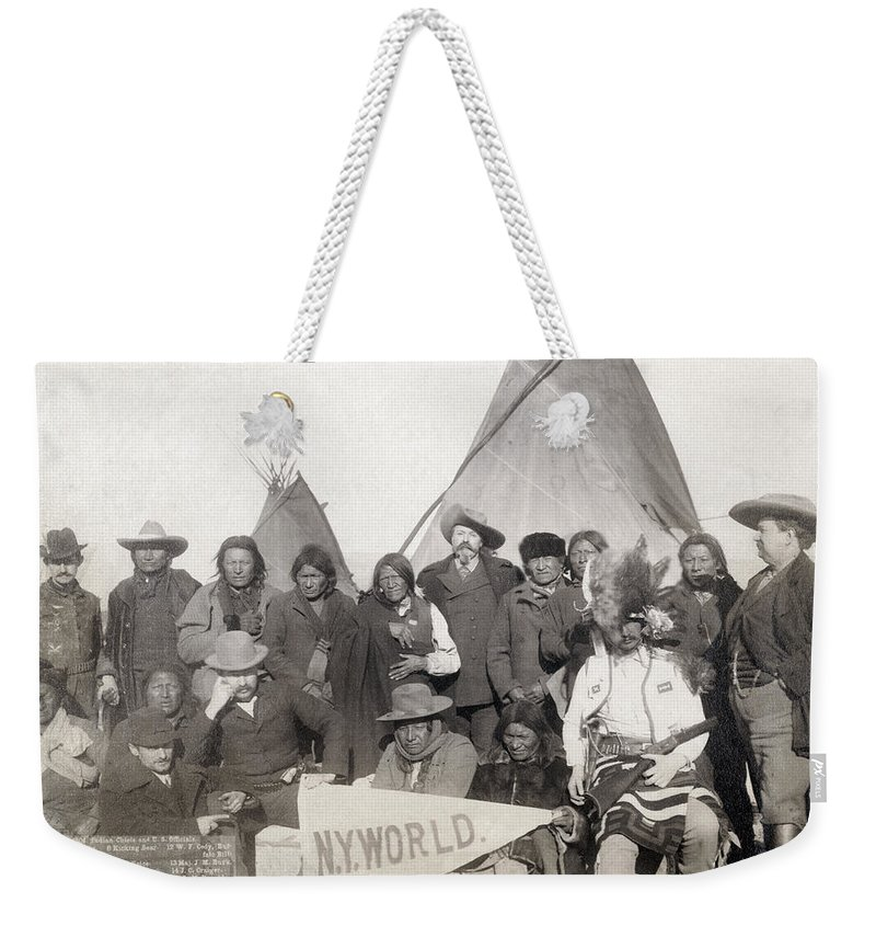 1891 Weekender Tote Bag featuring the photograph Pine Ridge Reservation by Granger
