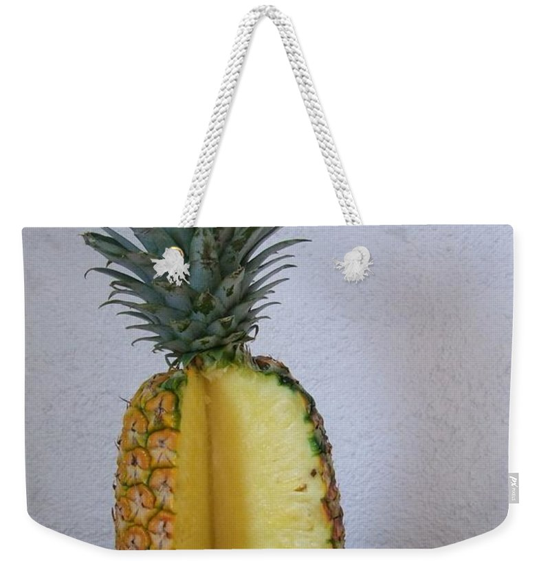 Pineapple Weekender Tote Bag featuring the photograph Pineapple Delight by Mary Deal