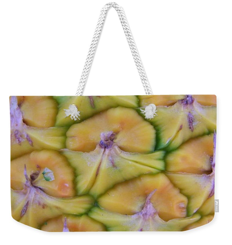 Pineapple Weekender Tote Bag featuring the photograph Pineapple Eyes by Mary Deal
