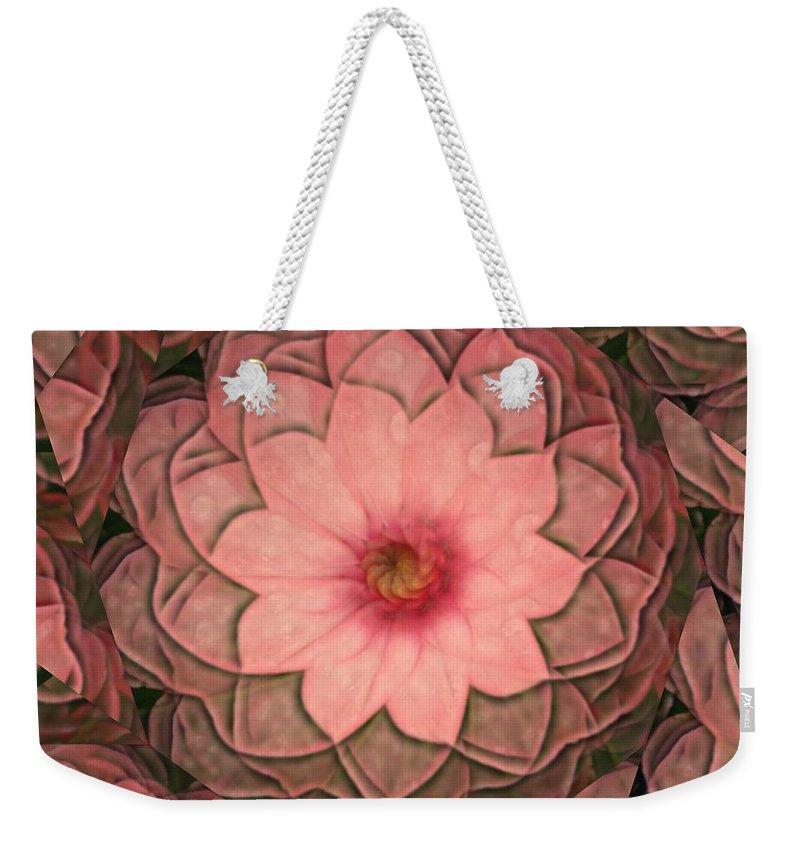 Pink Weekender Tote Bag featuring the digital art Pink Delight by Rhonda Barrett