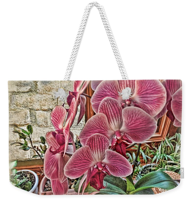 Rudolfiella Weekender Tote Bag featuring the photograph Pink Orchids by Joan Minchak