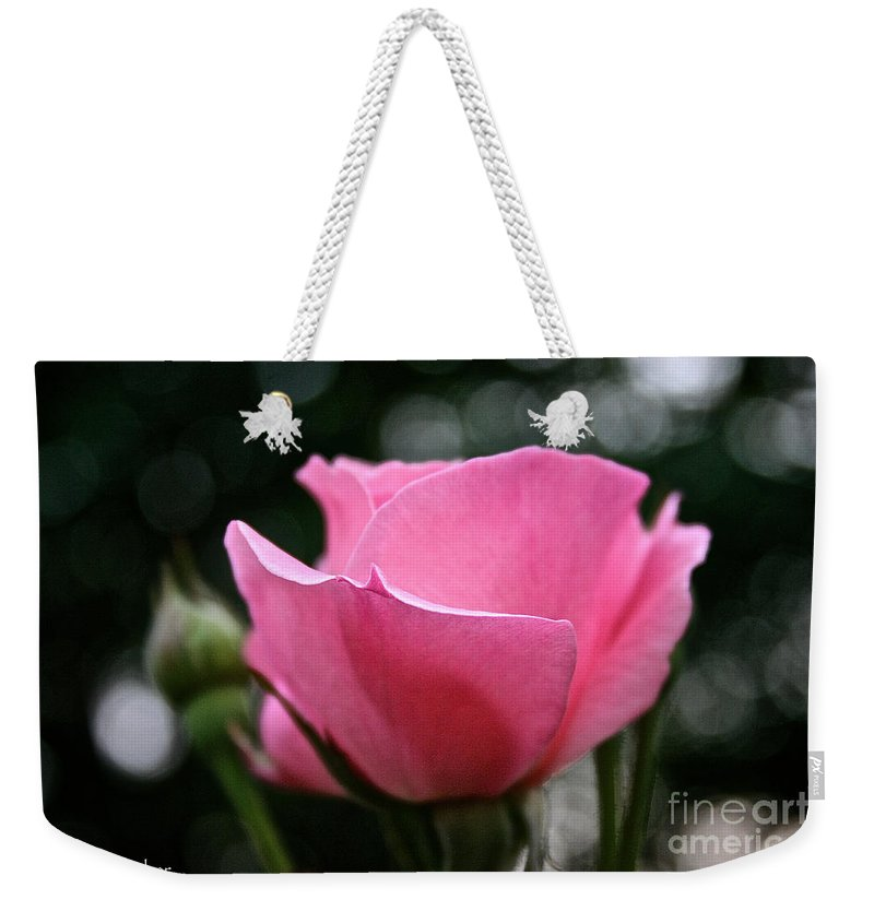 Outdoors Weekender Tote Bag featuring the photograph Pink Pearl by Susan Herber