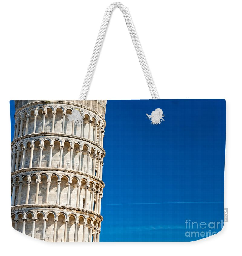 Arch Weekender Tote Bag featuring the photograph Pisa Leaning Tower by Luciano Mortula