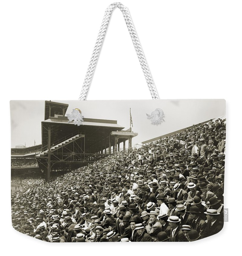 1910 Weekender Tote Bag featuring the photograph Pittsburgh: Forbes Field by Granger
