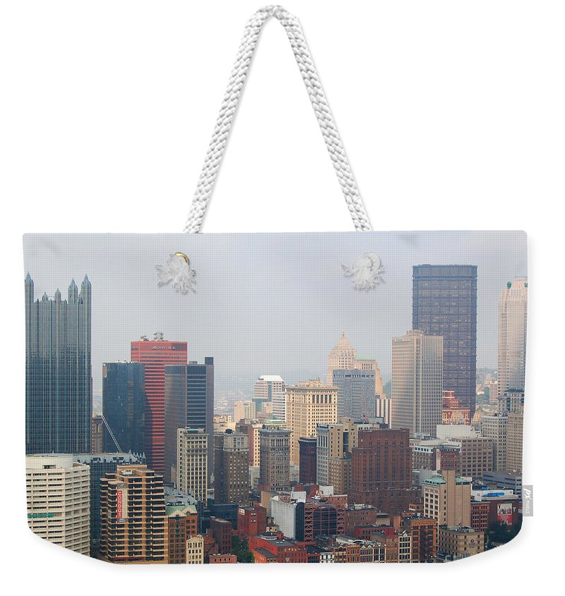 Pittsburgh Weekender Tote Bag featuring the photograph Pittsburgh Skyline by Stephen Whalen