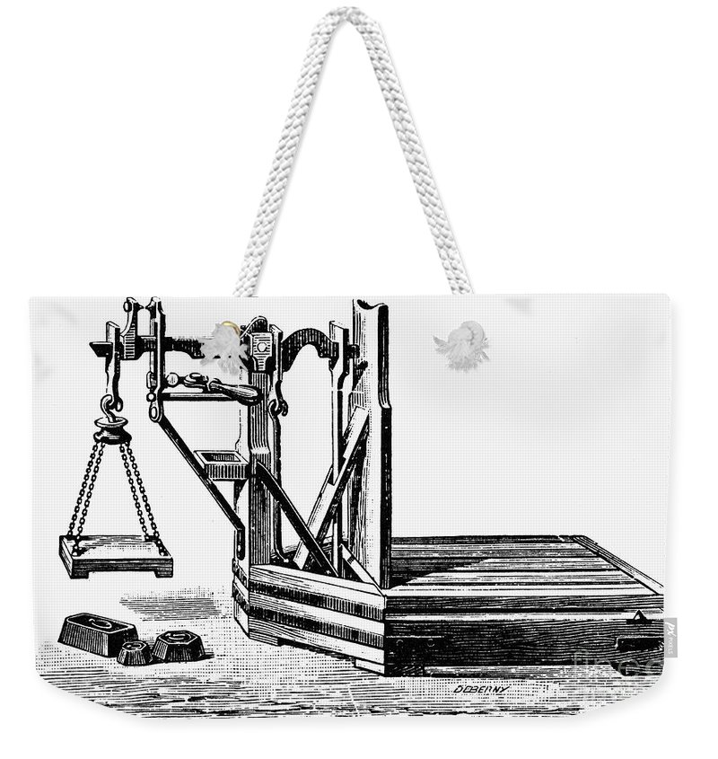 20th Century Weekender Tote Bag featuring the photograph Platform Scale, C1900 by Granger