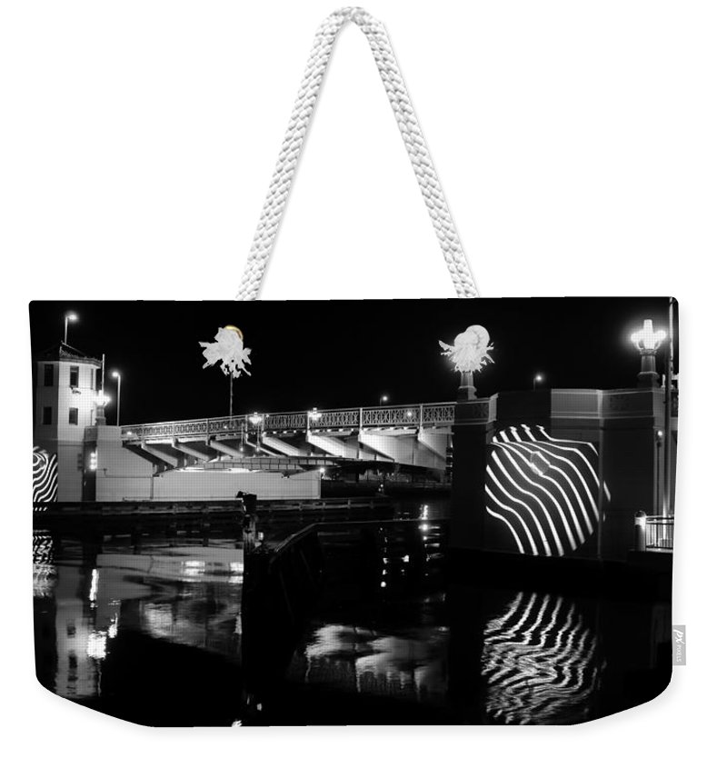 Panoramic Photography Weekender Tote Bag featuring the photograph Platt Street Bridge 1926 by David Lee Thompson