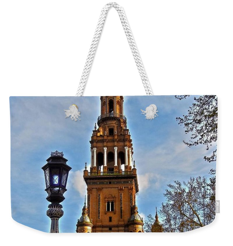Europe Weekender Tote Bag featuring the photograph Plaza De Espana - Sevilla by Juergen Weiss