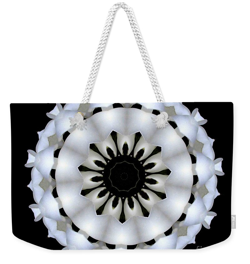 Digital Design Weekender Tote Bag featuring the photograph Plumeria 4 by Mark Gilman