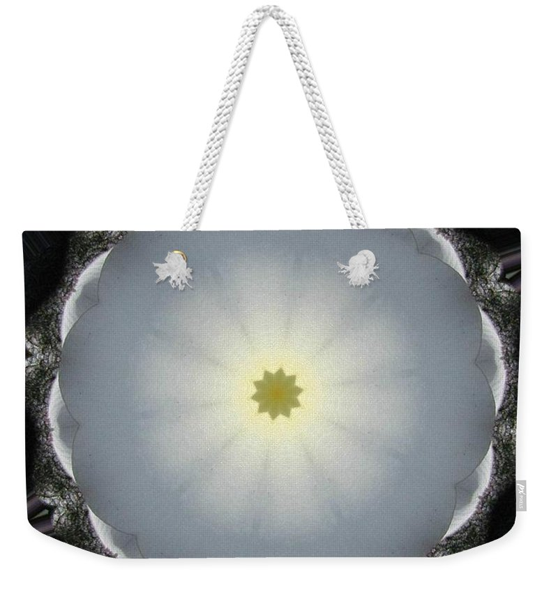 Digital Design Weekender Tote Bag featuring the photograph Plumeria 5 by Mark Gilman