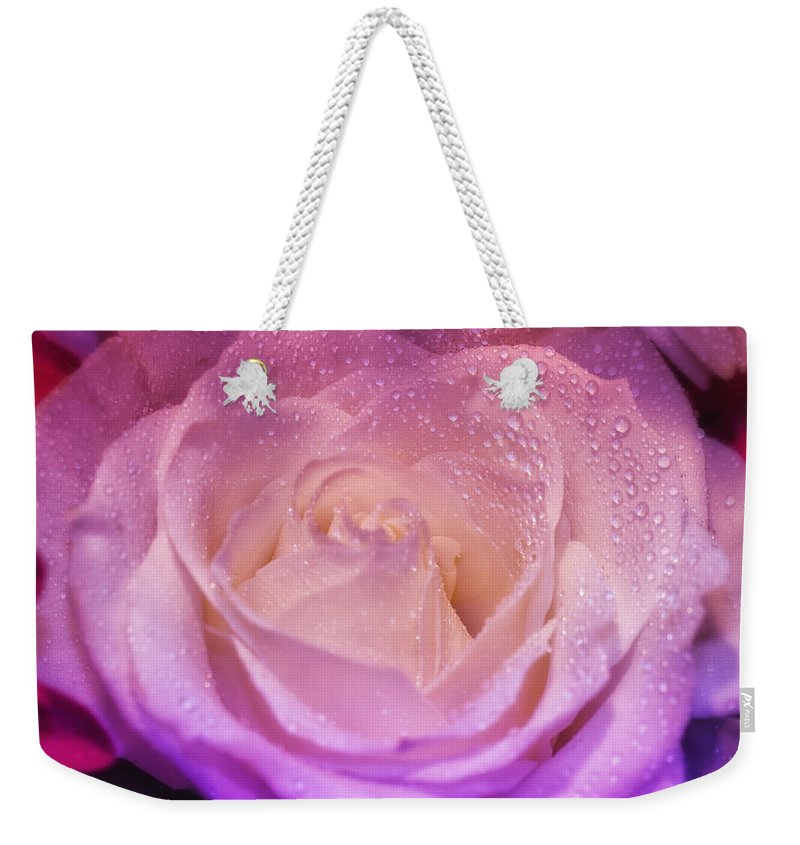 Nature Weekender Tote Bag featuring the photograph Plush Pedals by Linda Tiepelman
