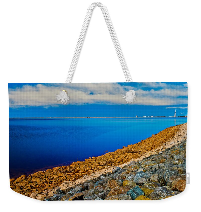 Cloudy Weekender Tote Bag featuring the photograph Point Of View by Doug Long
