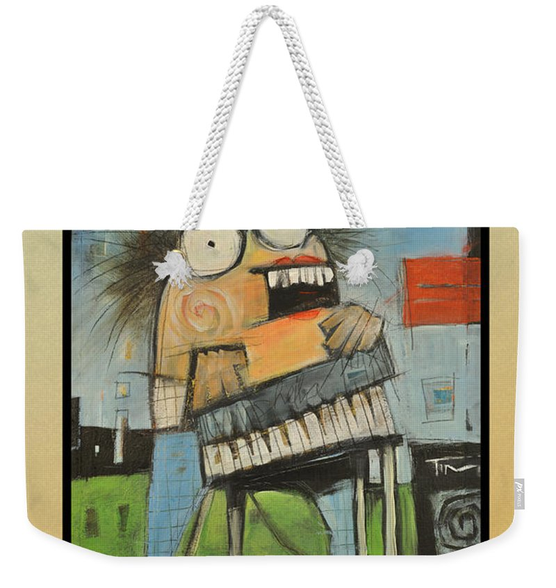 Polka Weekender Tote Bag featuring the painting Polka Queen Poster by Tim Nyberg