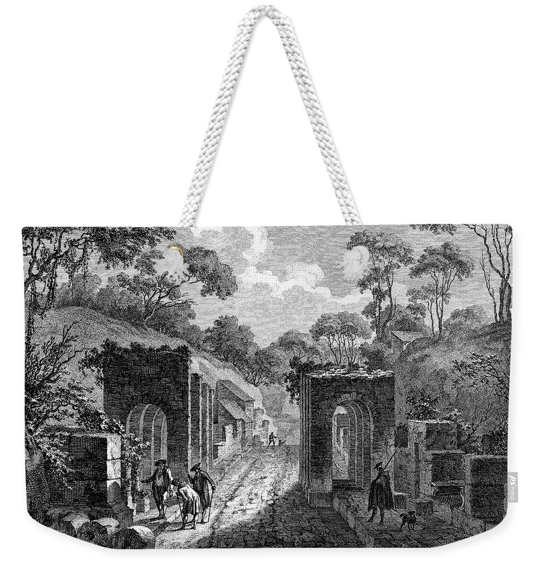 18th Century Weekender Tote Bag featuring the photograph Pompeii: Herculaneum Gate by Granger