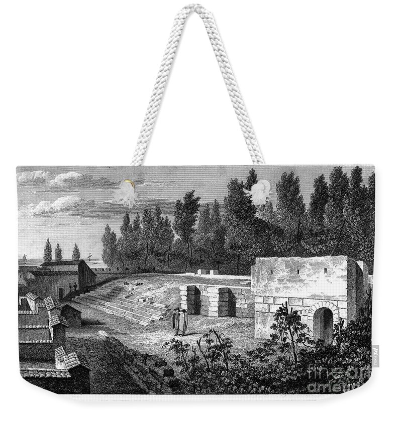 1830 Weekender Tote Bag featuring the photograph Pompeii: Stairs, C1830 by Granger