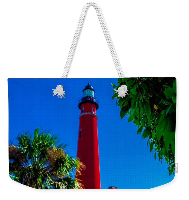 Lighthouse Weekender Tote Bag featuring the photograph Ponce Inlet Lighthouse 1 by Shannon Harrington