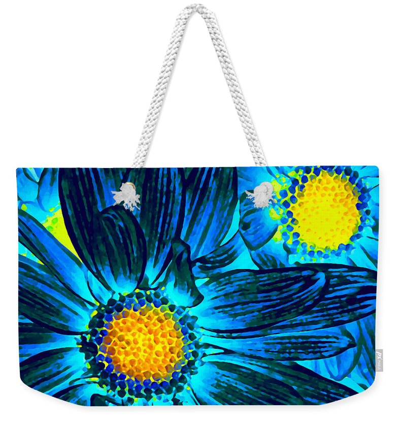 Pop Daisy Weekender Tote Bag featuring the photograph Pop Art Daisies 7 by Amy Vangsgard