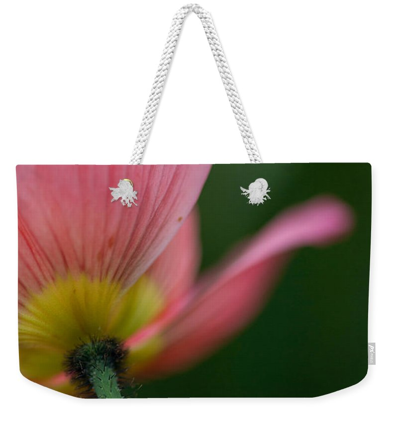 Poppy Weekender Tote Bag featuring the photograph Poppy Details by Mike Reid